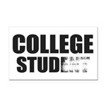 College Stud Rectangle Car Magnet