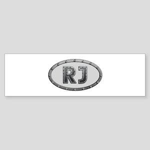 RJ Metal Bumper Sticker