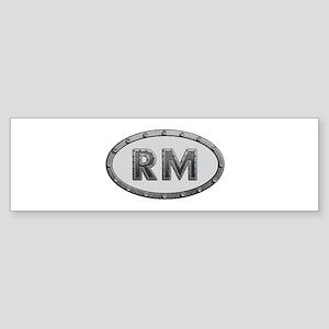 RM Metal Bumper Sticker