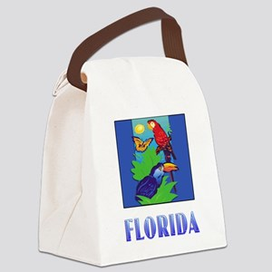 FLORIDA Macaw, Parrot, Butterfly, Jungle Canvas Lu