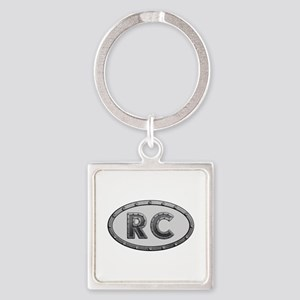 RC Metal Square Keychain