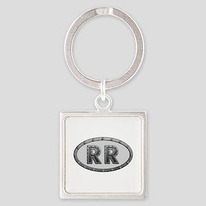 RR Metal Square Keychain