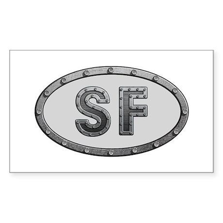 SF Metal Rectangle Sticker