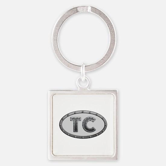 TC Metal Square Keychain