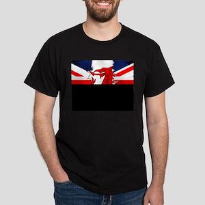Grunge Welsh Flag Union Jack Men's Dark T-Shirt