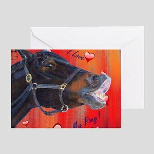 I Love My Pony! Cute Equestrian Greeting Card
