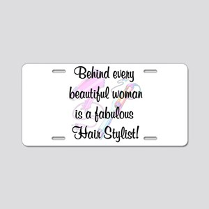 SUPER STAR STYLIST Aluminum License Plate
