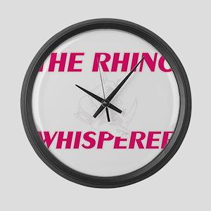 The Rhino Whisperer Large Wall Clock