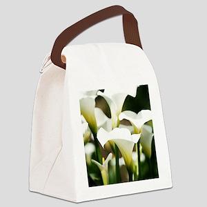 White Calla Lilies Canvas Lunch Bag