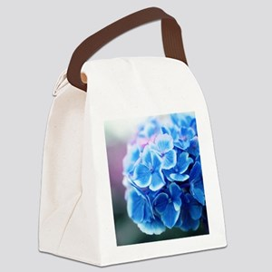Blue Hydrangeas Canvas Lunch Bag