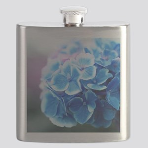Blue Hydrangeas Flask