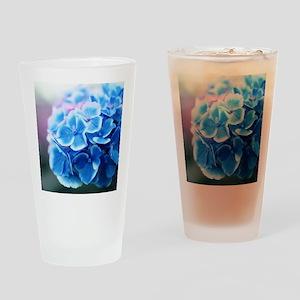 Blue Hydrangeas Drinking Glass