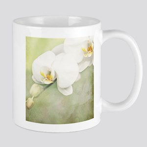 Vintage White Orchid Mugs