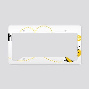 Husband To Bee License Plate Holder