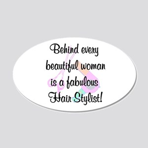 SIZZLING STYLIST 20x12 Oval Wall Decal
