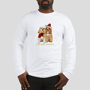 Cocker Spaniel Christmas Portrait Long Sleeve T-Sh