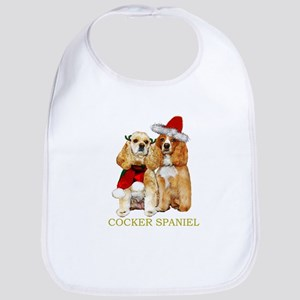 Cocker Spaniel Christmas Portrait Bib