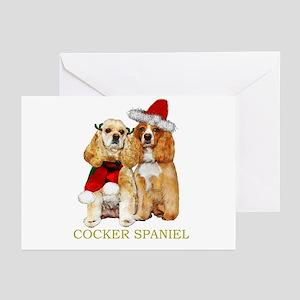 Cocker Spaniel Christmas Portrait Greeting Cards (