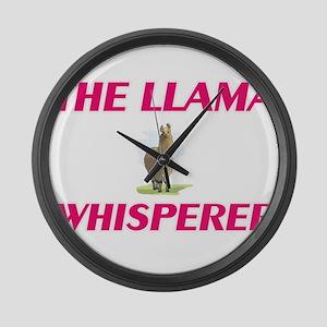 The Llama Whisperer Large Wall Clock