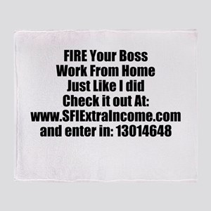 JDL Work From Home Throw Blanket