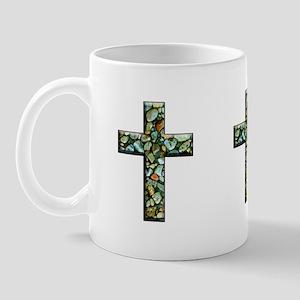 Jesus Rocks Mosaic Cross Mug