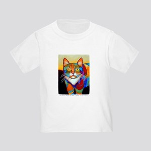 Cat-of-Many-Colors Toddler T-Shirt