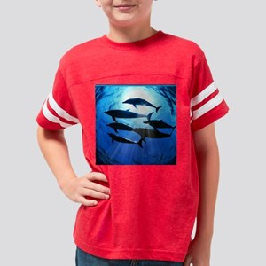 Porpoises in the Ocean with S Youth Football Shirt