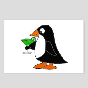 Penguin Drinking Margarit Postcards (Package of 8)