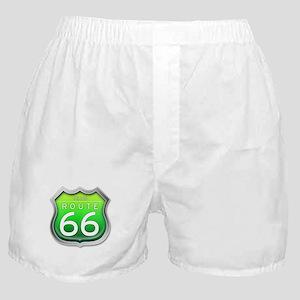 Texas Route 66 - Green Boxer Shorts