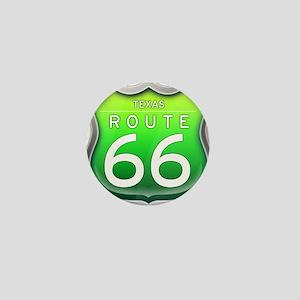 Texas Route 66 - Green Mini Button