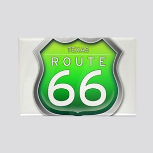 Texas Route 66 - Green Magnets