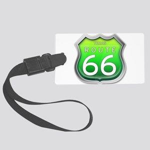 Texas Route 66 - Green Luggage Tag