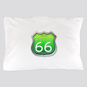 Texas Route 66 - Green Pillow Case