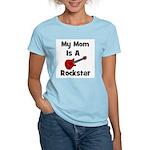 Mom Is A Rockstar! Women's Pink T-Shirt