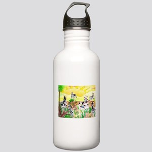Zebras Day on the GrassLand Water Bottle