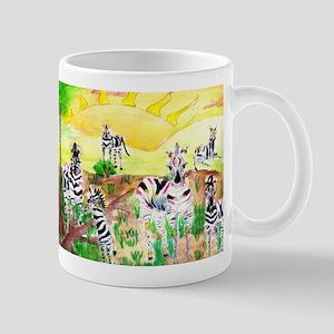 Zebras Day on the GrassLand Mugs