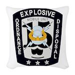 EOD Mobile Unit 15 Woven Throw Pillow