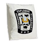 EOD Mobile Unit 15 Burlap Throw Pillow