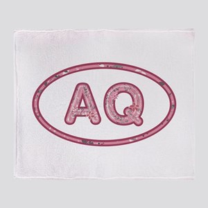 AQ Pink Throw Blanket