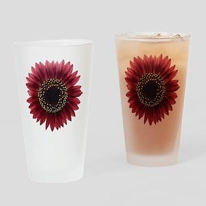 Ruby sunflower Drinking Glass