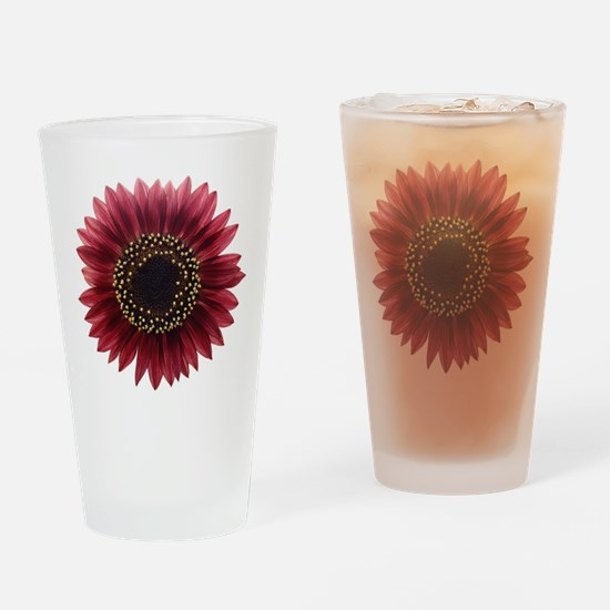 Ruby sunflower Drinking Glass