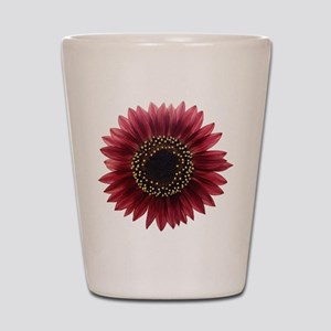 Ruby sunflower Shot Glass