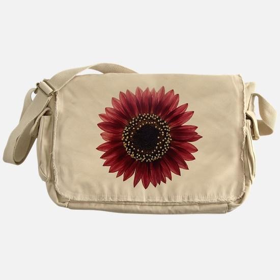 Ruby sunflower Messenger Bag