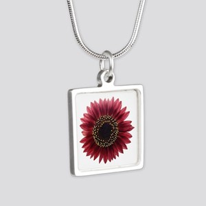 Ruby sunflower Necklaces