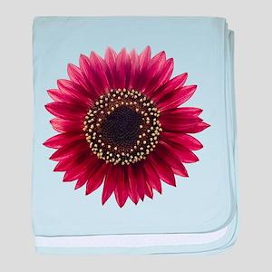 Ruby sunflower baby blanket