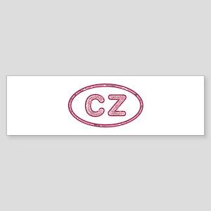 CZ Pink Bumper Sticker