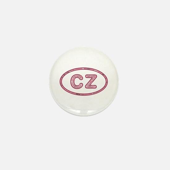 CZ Pink Mini Button