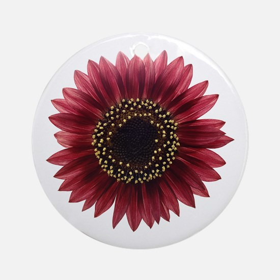 Ruby sunflower Ornament (Round)