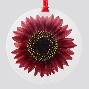 Ruby sunflower Ornament