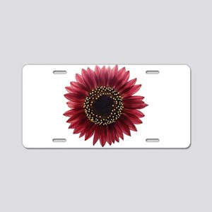 Ruby sunflower Aluminum License Plate